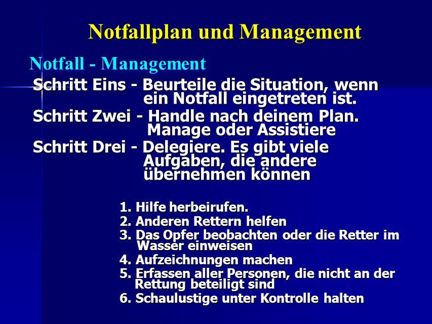 Notfallplan und Management Schritt Eins - Beurteile die Situation, wenn ein Notfall eingetreten ist. Schritt Zwei - Handle nach deinem Plan. Manage od