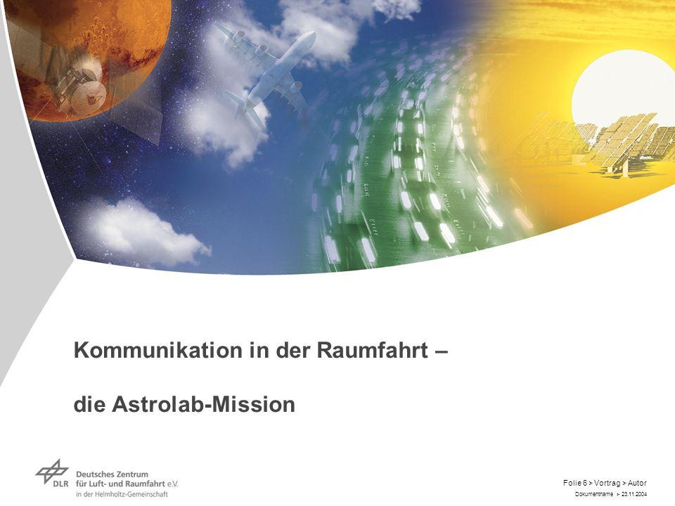 Dokumentname > 23.11.2004 Folie 17 > Vortrag > Autor Launch Long-term training for a long duration mission: Long-term training for a long duration mission: Landing