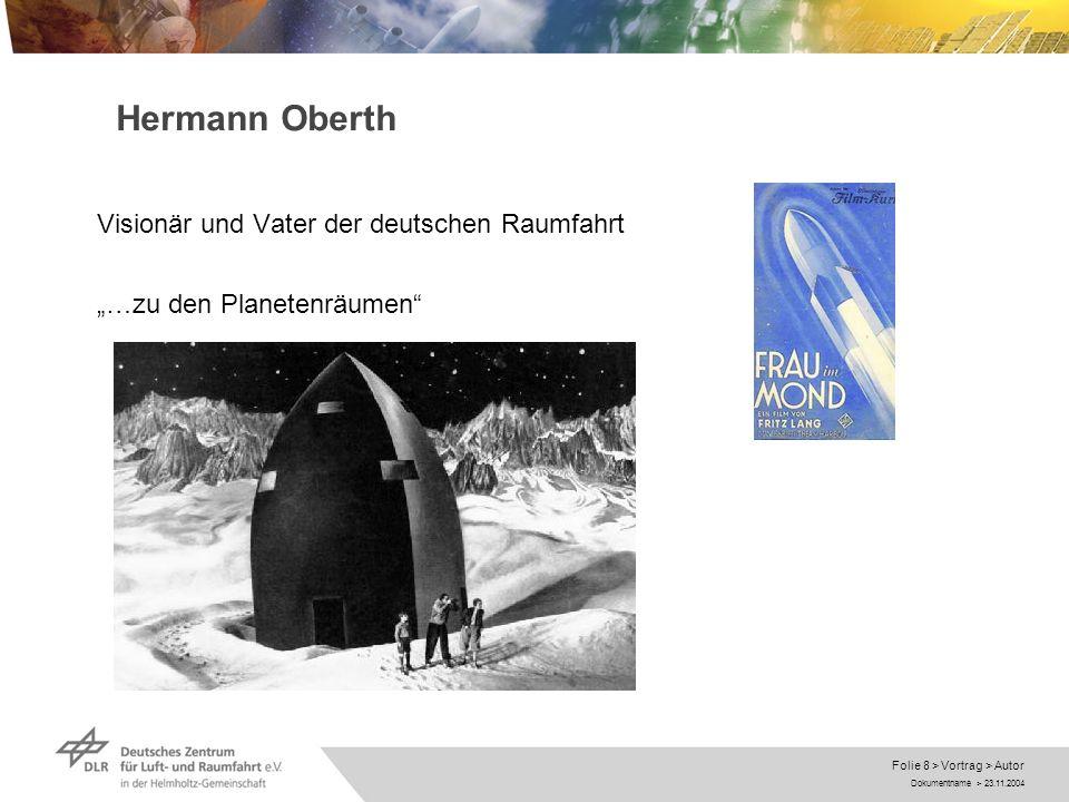 Dokumentname > 23.11.2004 Folie 9 > Vortrag > Autor Wernher von Braun Ingenieur, Wissenschaftler, Lobbyist - Kommunikator