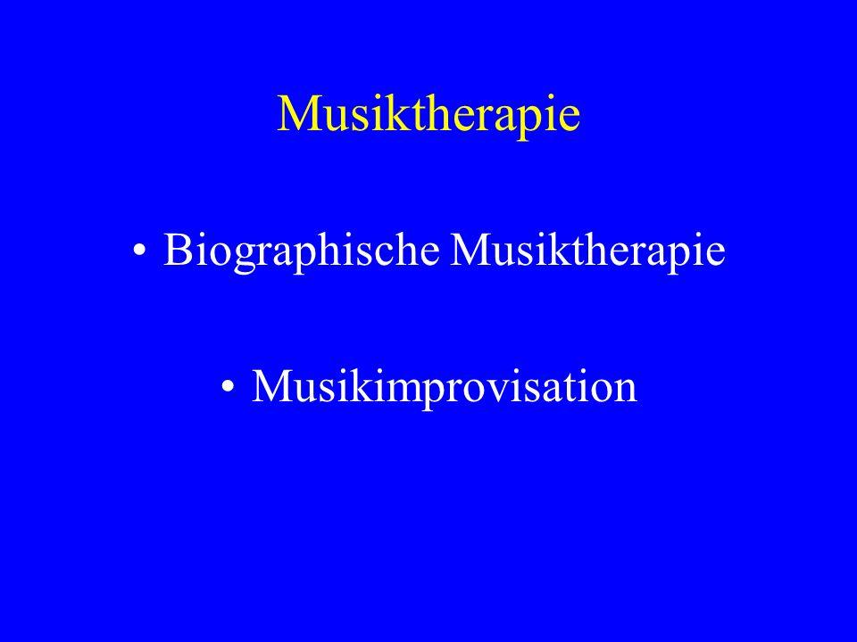 Musiktherapie Biographische Musiktherapie Musikimprovisation