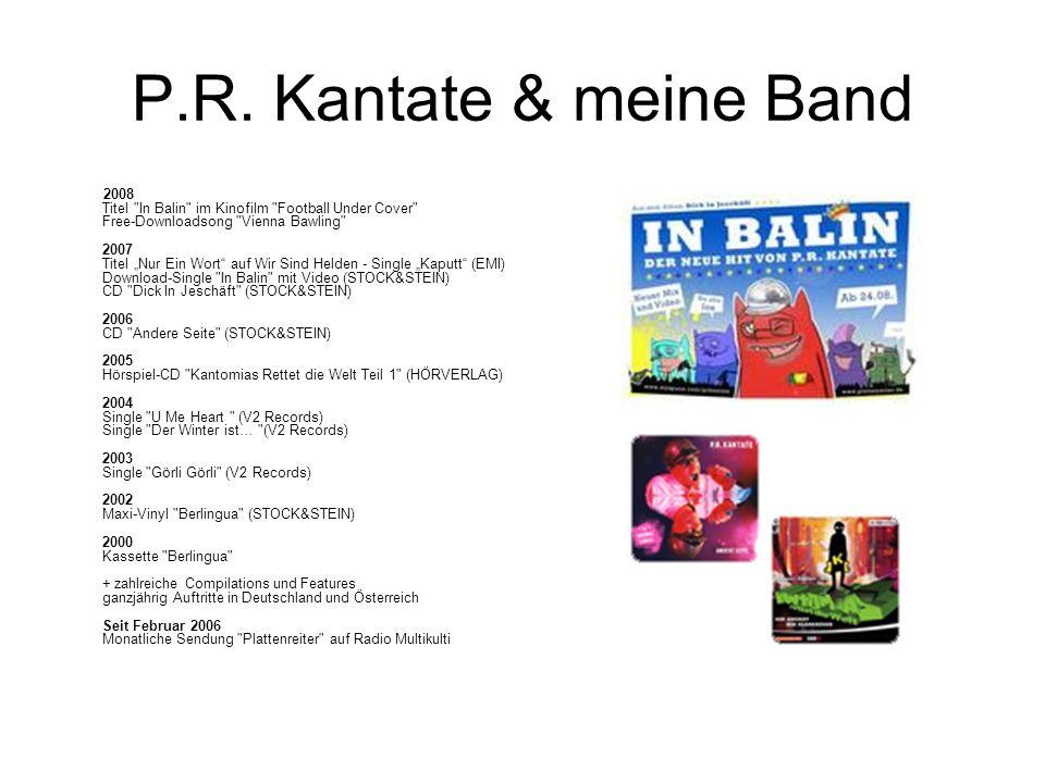 P.R. Kantate & meine Band 2008 Titel