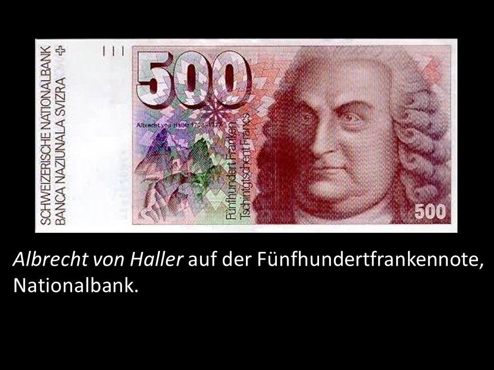 Albrecht von Haller, 85 Rappen Briefmarke, 2008, Schweiz.