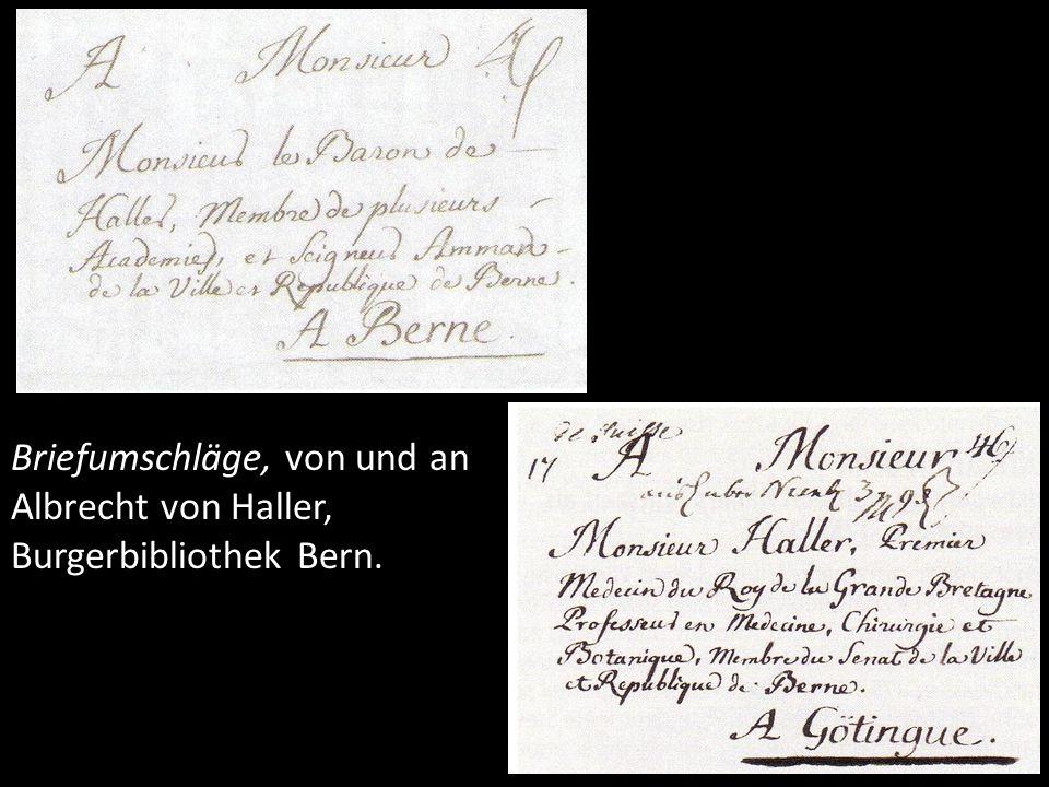 Hallers Briefnetz. Haller-Datenbank, Kartographie, Richard Stuber, Bern.