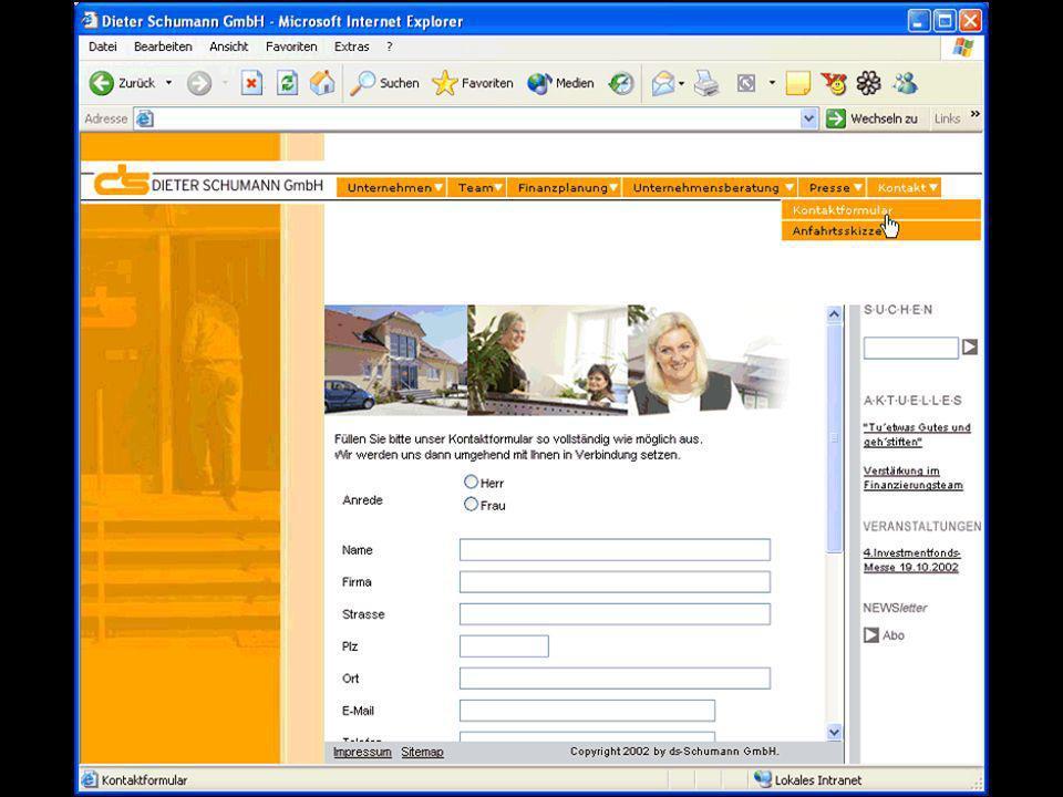 Content – Management Verwaltung von Templates für Darstellung, Frames, Browser, Sprachen usw.
