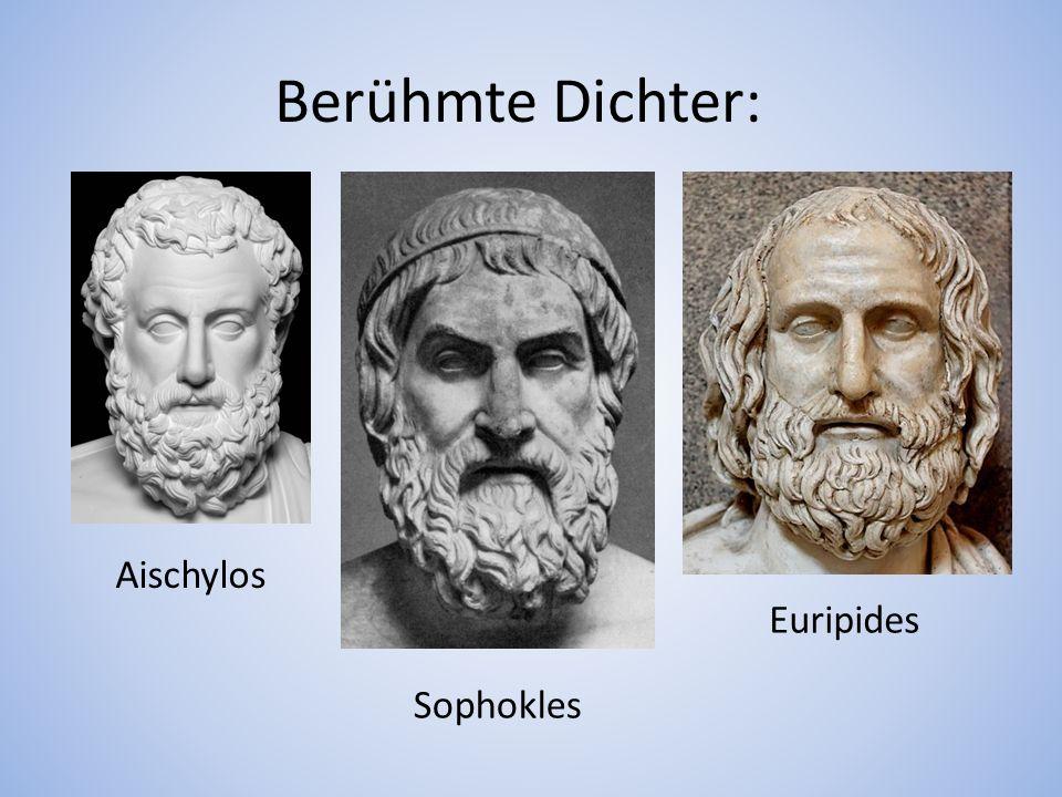 Berühmte Dichter: Euripides Sophokles Aischylos