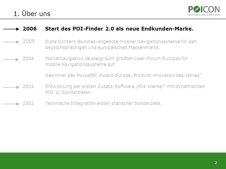2 2006Start des POI-Finder 2.0 als neue Endkunden-Marke.