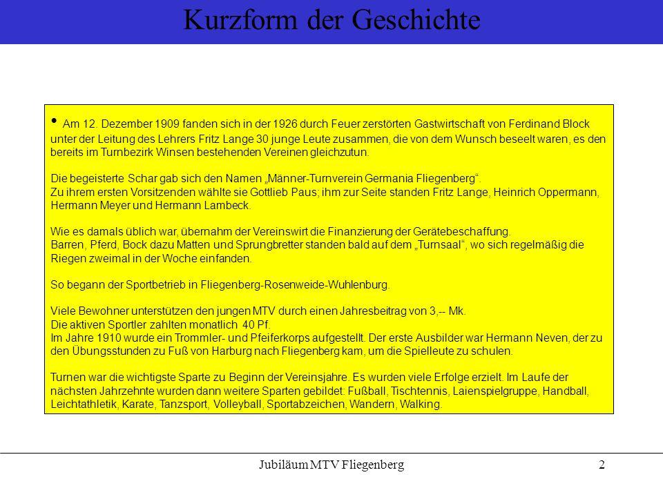 Jubiläum MTV Fliegenberg3 Vorstände der 100 Jahre 1909 bis 1918: Gottlieb Paus sen.