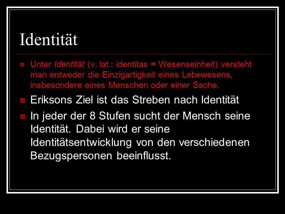 Zur Person Der deutsch- amerikanische Psychoanalytiker Erik Erikson *15.06.1902 12.5.1994 war Schüler von Freud und hat seine Theorie weiterentwickelt