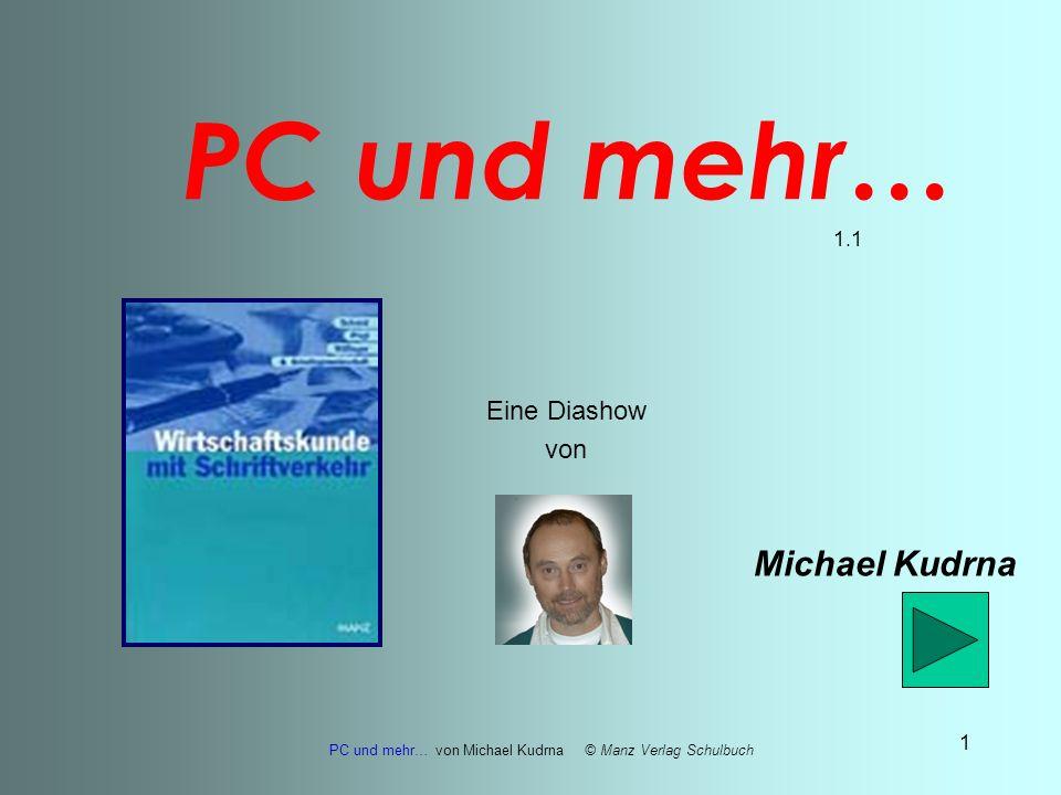 PC und mehr… von Michael Kudrna © Manz Verlag Schulbuch 21 Ausgabegeräte MONITOR (hier: Flachbildschirm mit Flüssigkristalltechnik LCD) DRUCKER (hier: Tintenstrahldrucker)