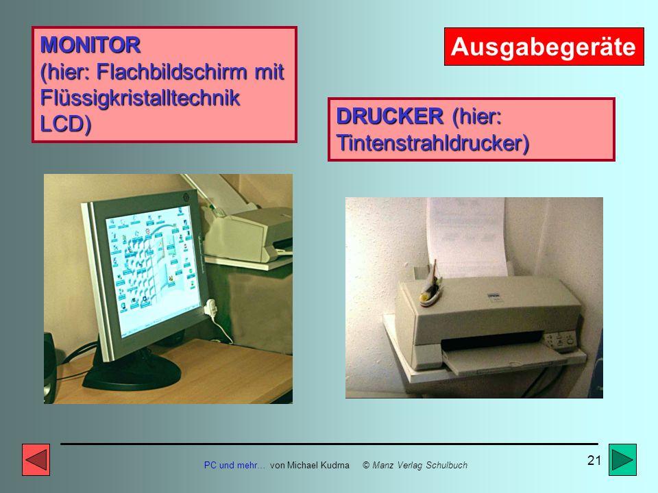 PC und mehr… von Michael Kudrna © Manz Verlag Schulbuch 20 Externe Speicher ZIP- Medium Externes ZIP- Laufwerk Externe Speicher nennt man alle Speiche