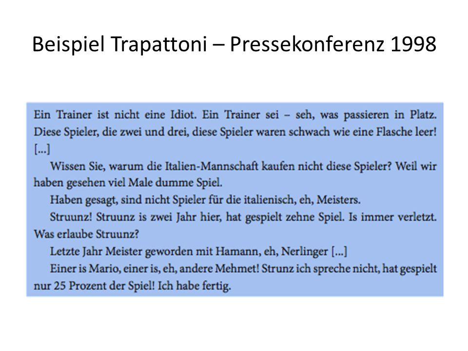 Beispiel Trapattoni – Pressekonferenz 1998
