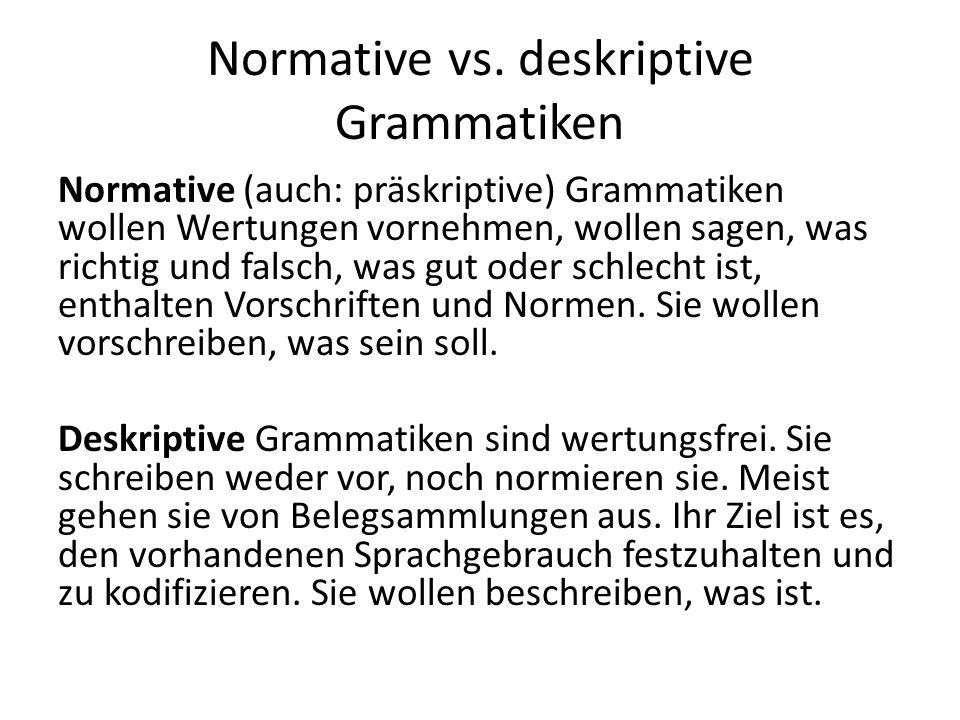 Normative vs.