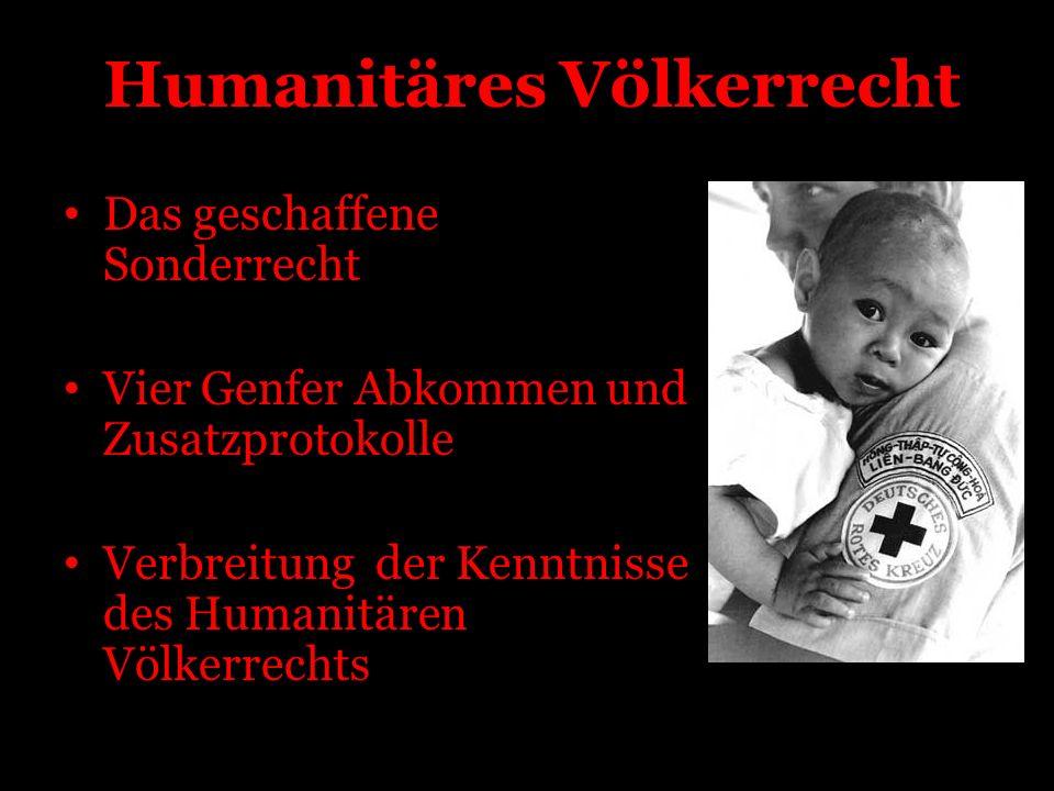 Grundsätze des Roten Kreuzes und Roten Halbmondes Menschlichkeit Unparteilichkeit Neutralität Unabhängigkeit Freiwilligkeit Einheit Universalität