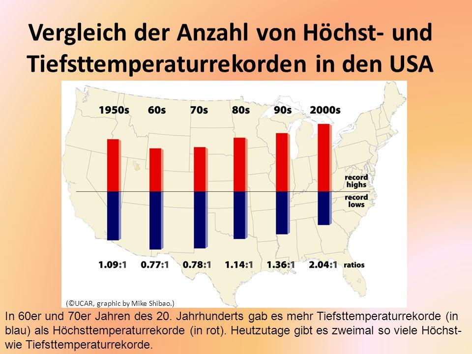 Temperatur-Extreme in den USA 2010 Während das 2.Jahr- zehnt des 21.