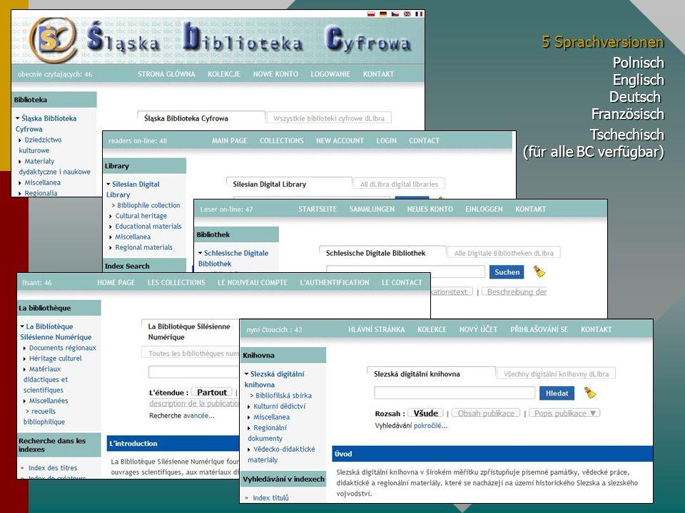Dezentrale Kooperation, Koordination der Digitalisierung, Einbinden in die virtuelle Sammlung im Verbund der Polnischen Digitalen Bibliotheken - peer to peer 17 Digitale Bibliotheken und etwa 95 000 Publikationen