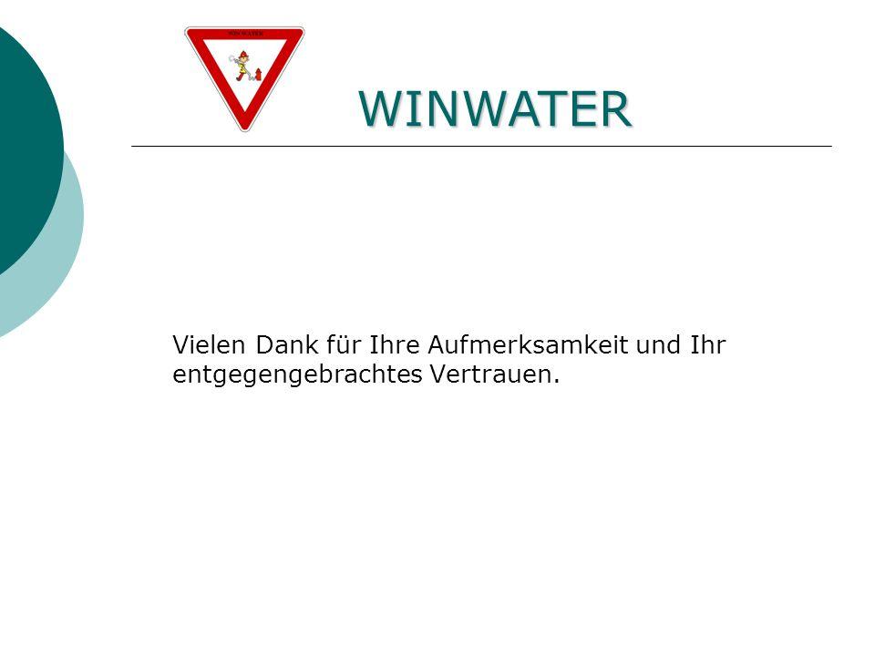 Fünfte Ebene WINWATER Vielen Dank für Ihre Aufmerksamkeit und Ihr entgegengebrachtes Vertrauen.