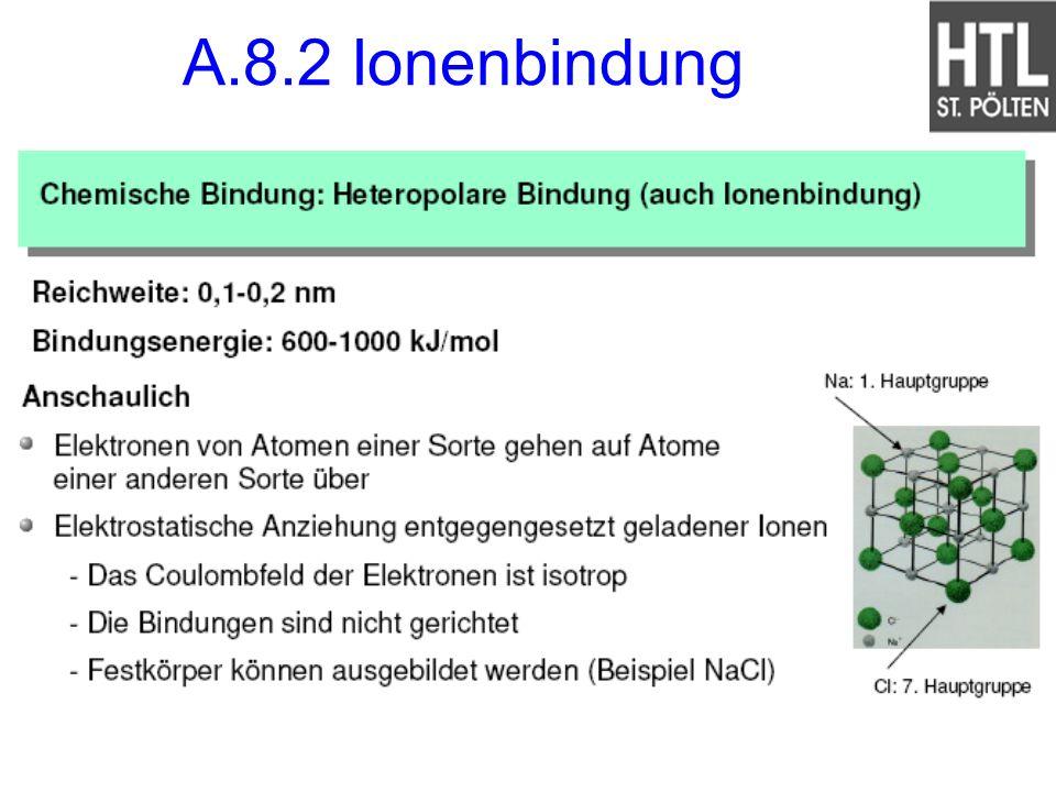 A.8.2 Ionenbindung