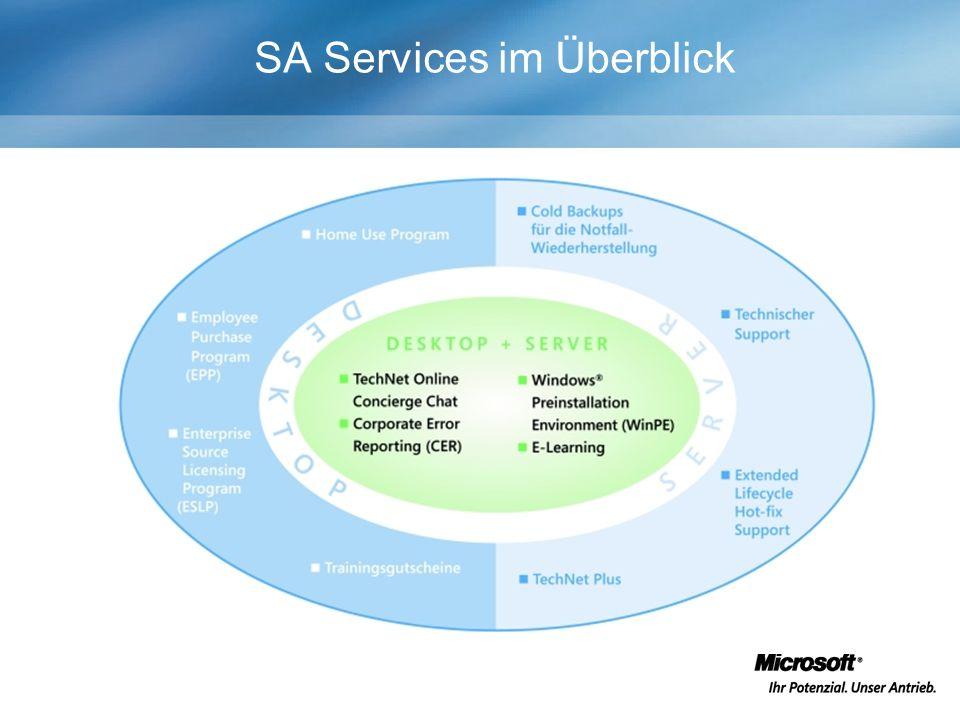 SA Services im Überblick