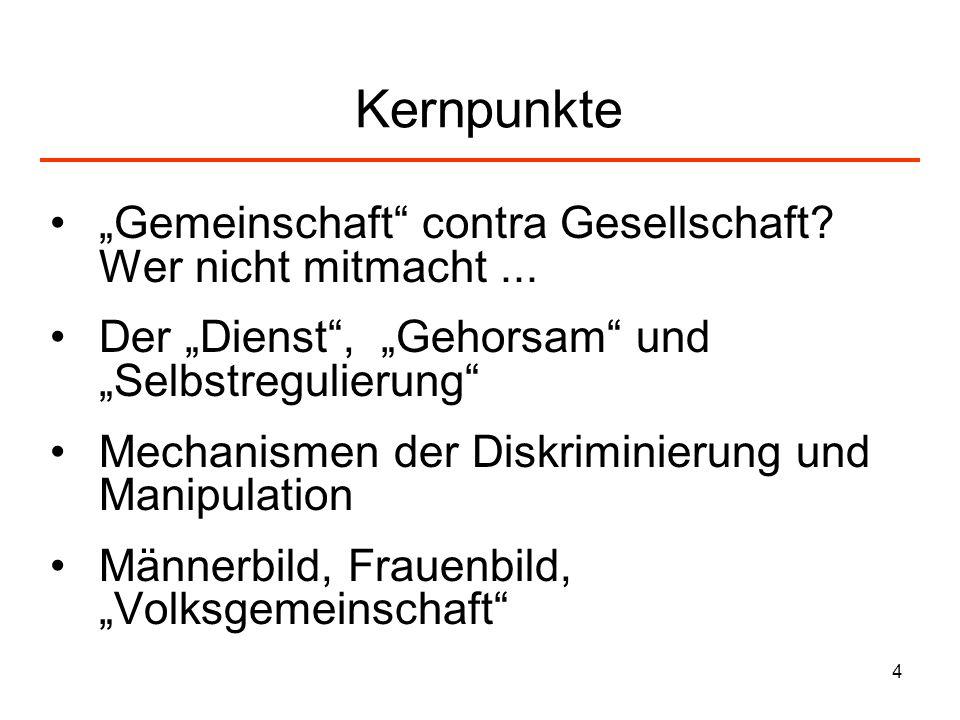 5 5 Elemente der NS-Ideologie – vor und nach 33-45.