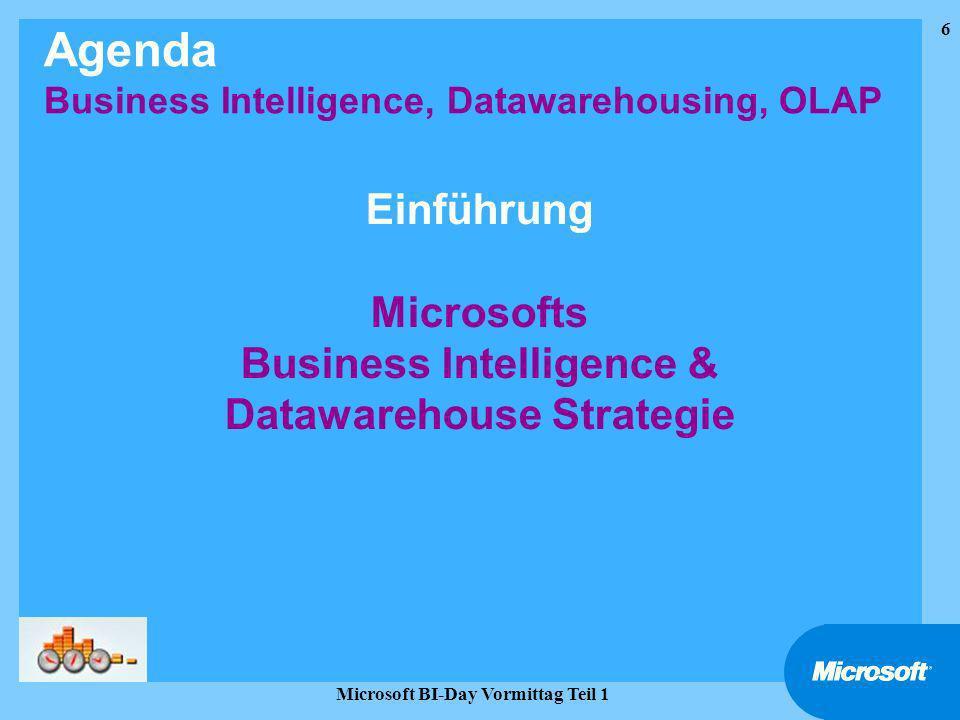 27 Microsoft BI-Day Vormittag Teil 1 Data Transformation Services (DTS)