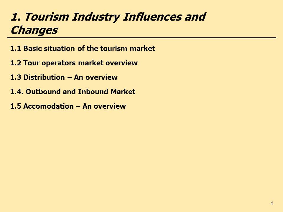 15 1.3 Distribution channels German tour operators (2004/2005) Operators (examples) Number of Travel Agencies Total (Turnover per agency ()) Other company Own company TUI Deutschland 9.600 (430.000) 8.2401.360 REWE Touristik 11.000 (251.100) 8.4302.570 Thomas Cook 12.314 (236.000)10.8611.453 Öger Gruppe 10.874 (56.000)10.860 14 FTI 10.400 (48.356) 9.680 720 Studiosus 7.901 (22.159) 7.900 1 Hauser Exkursionen 575 (8.000) 571 4 DB Personenverkehr 4.000 (5.175) 3.300 700 Attika 7.814 (2.668) 7.814 0 Phönix 10.048 (18.511)10.048 0 Source: fvw International, Sonder-Dokumentation, Deutscher Veranstalter 2004/2005