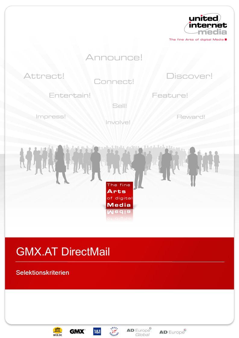 GMX.AT DirectMail Selektionskriterien