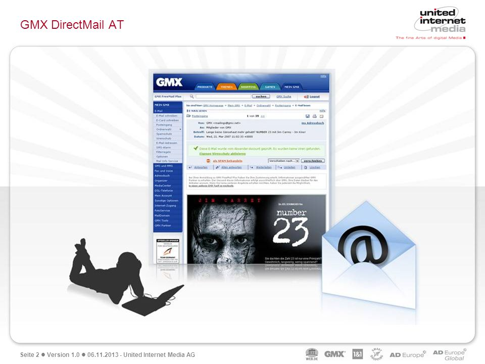 Seite 2 Version 1.0 06.11.2013 - United Internet Media AG GMX DirectMail AT