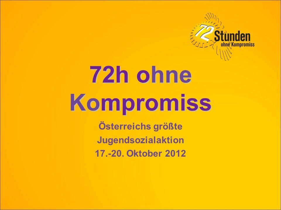72 Stunden ohne Kompromiss – die Idee 5.000 Jugendliche (14-25 Jahre) engagieren sich freiwillig drei Tage lang (72 Stunden) in Gruppen von 5-20 Personen für ca.