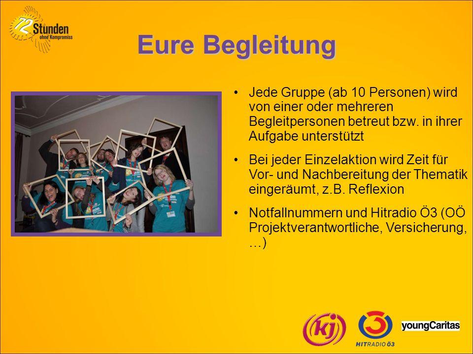 Eure Begleitung Jede Gruppe (ab 10 Personen) wird von einer oder mehreren Begleitpersonen betreut bzw.
