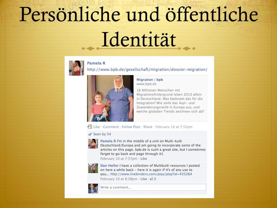 Persönliche und öffentliche Identität