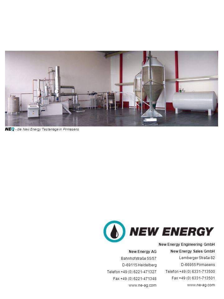 New Energy AG Bahnhofstraße 55/57 D-69115 Heidelberg Telefon +49 (0) 6221-471327 Fax +49 (0) 6221-471348 www.ne-ag.com New Energy Engineering GmbH New