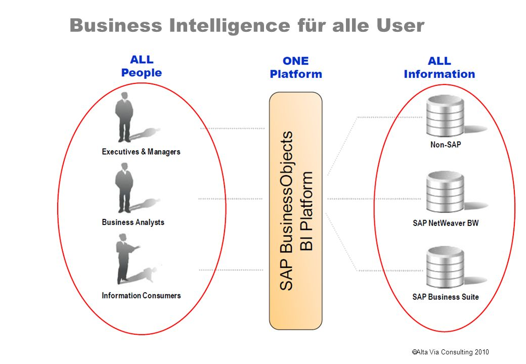 Alta Via Consulting 2010 Business Intelligence für alle User