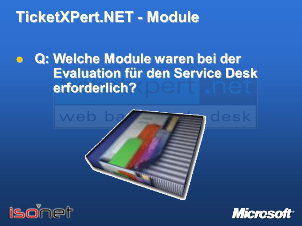 TicketXPert.NET – Module