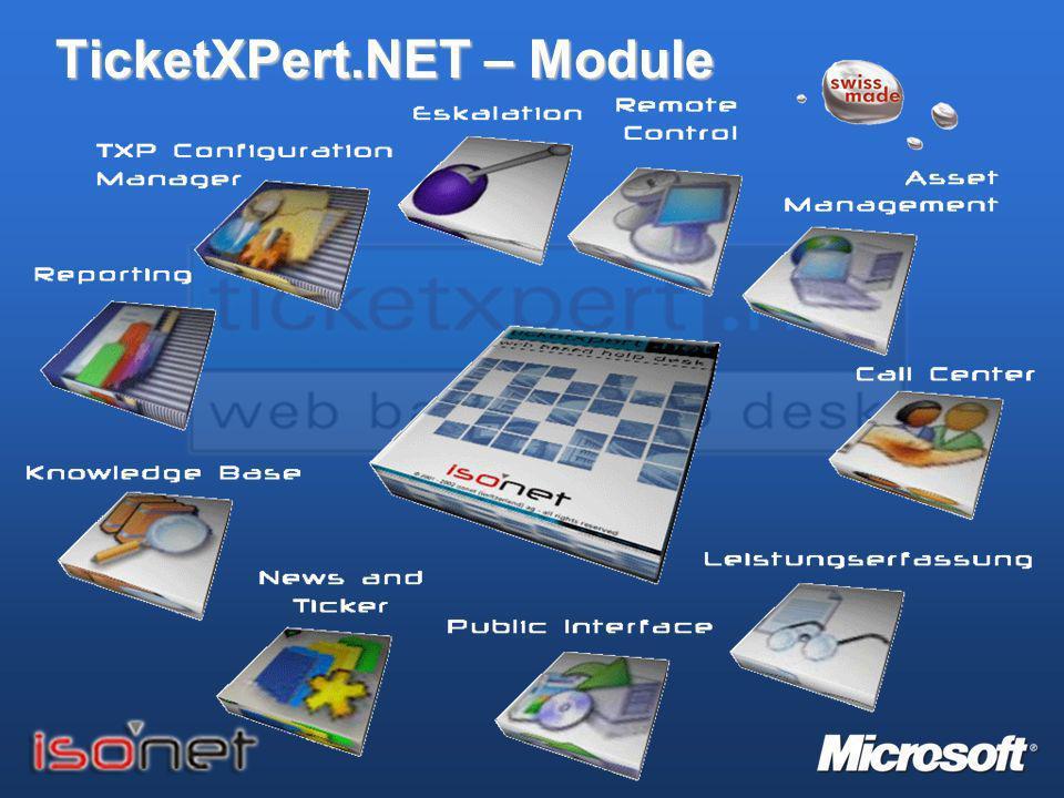 TicketXPert.NET - Features Q: Welche applikatorischen Anforderungen hatten Sie bei der Evaluation an die Help Desk Lösung.