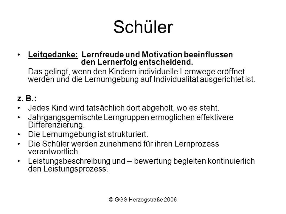 © GGS Herzogstraße 2006 Übersicht Freiarbeit