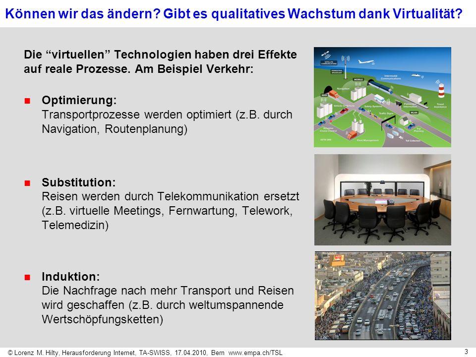 © Lorenz M. Hilty, Herausforderung Internet, TA-SWISS, 17.04.2010, Bern www.empa.ch/TSL 3 Können wir das ändern? Gibt es qualitatives Wachstum dank Vi