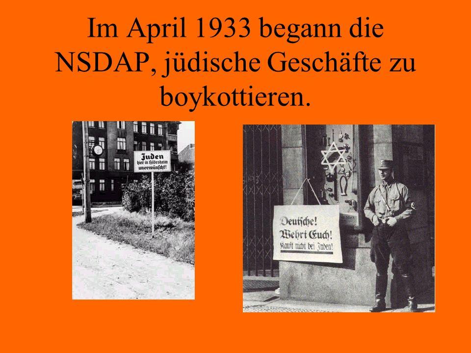 Nach Hitlers Rassenlehre sind die Arier die führende Rasse. Juden wurden als Untermenschen angesehen und sollten deshalb vernichtet werden.