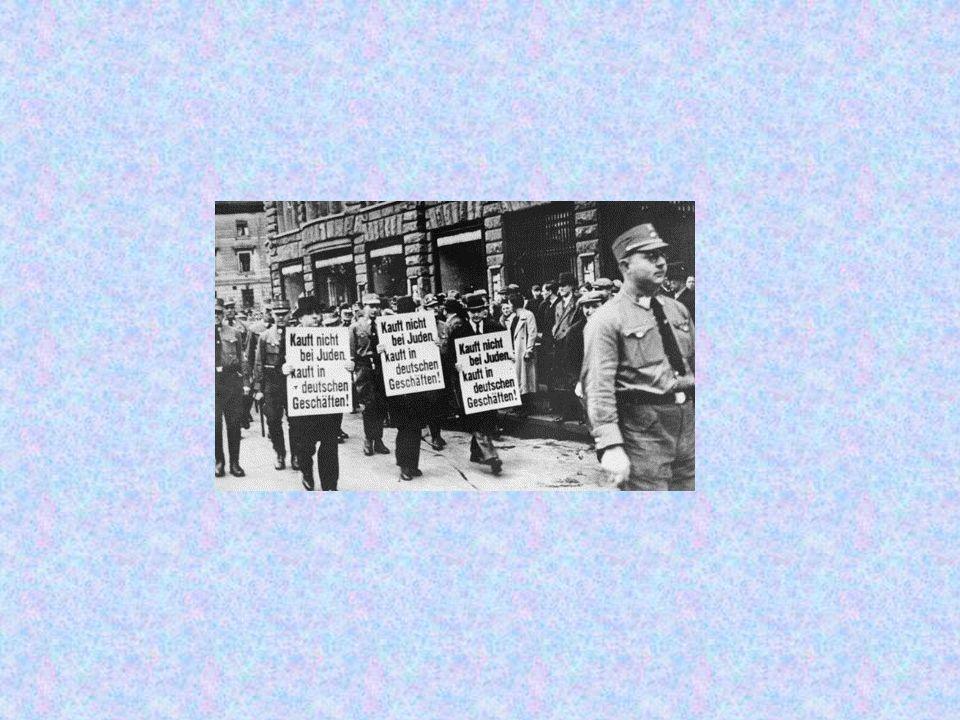 Im April 1933 begann die NSDAP, jüdische Geschäfte zu boykottieren.