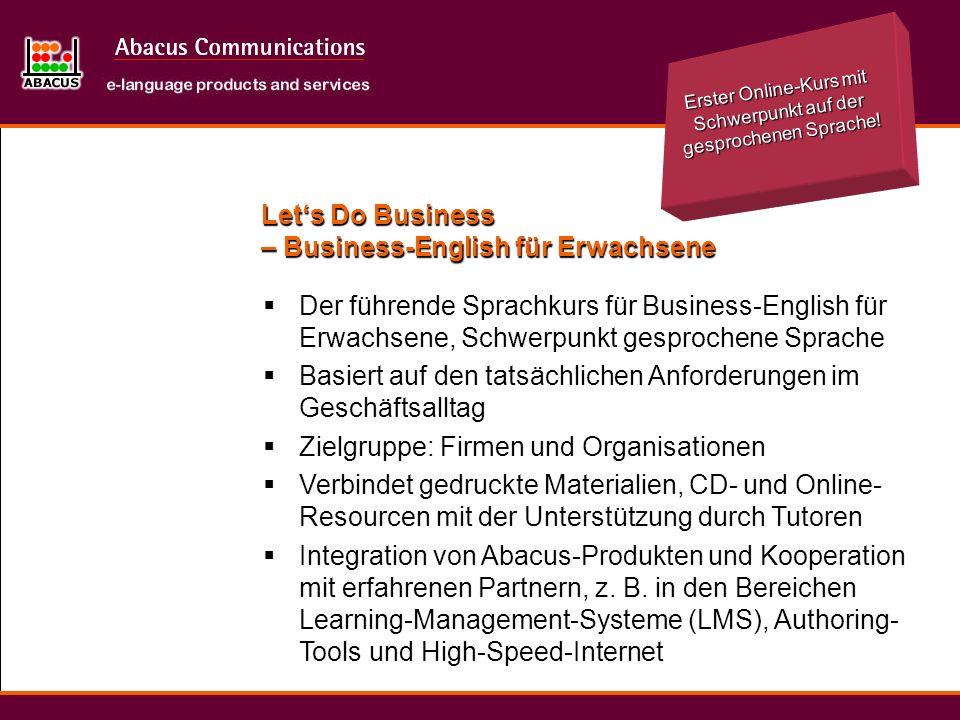 Lets Do Business – Business-English für Erwachsene Der führende Sprachkurs für Business-English für Erwachsene, Schwerpunkt gesprochene Sprache Basier