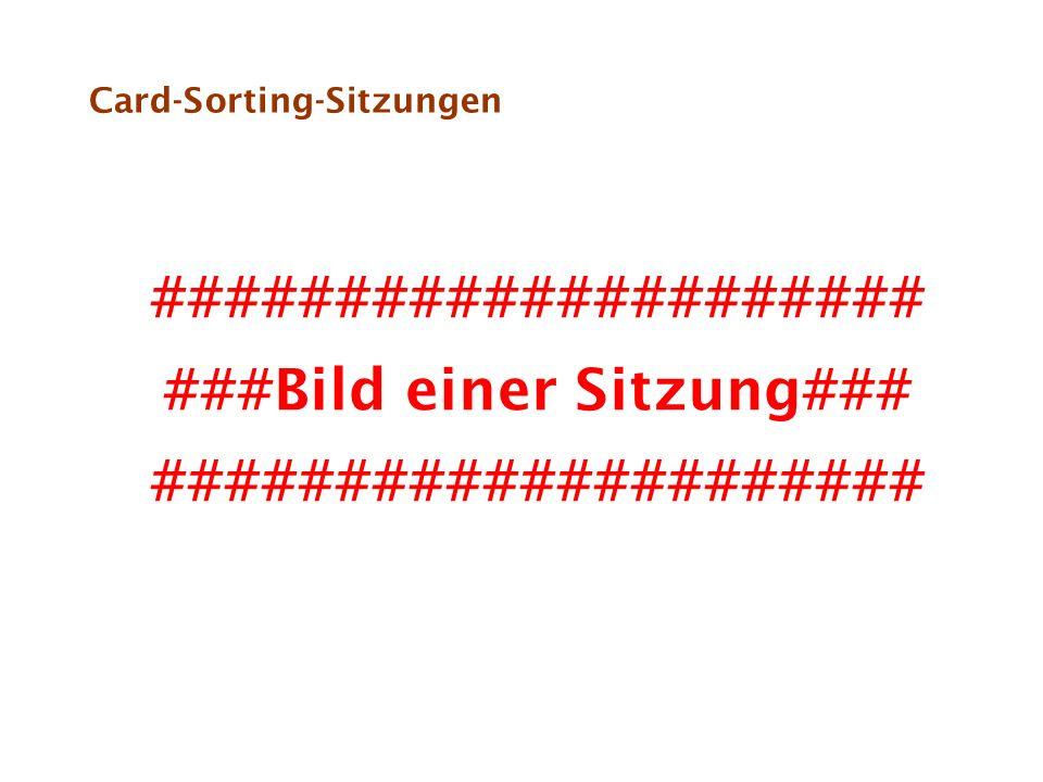Card-Sorting-Sitzungen ##################### ###Bild einer Sitzung### #####################