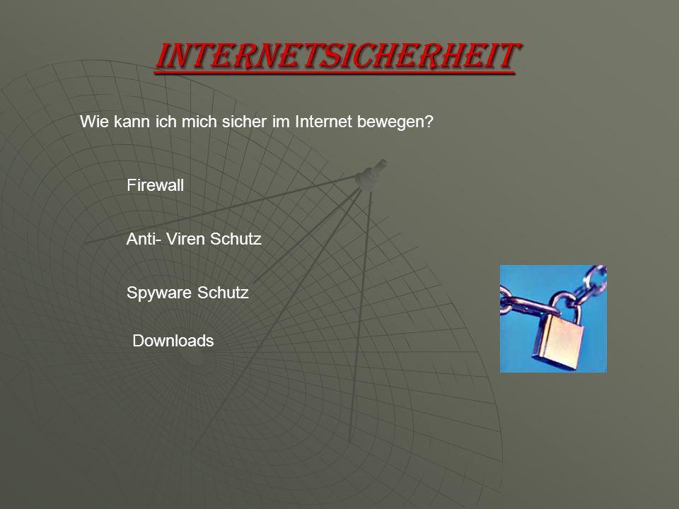 Internetsicherheit Wie kann ich mich sicher im Internet bewegen.