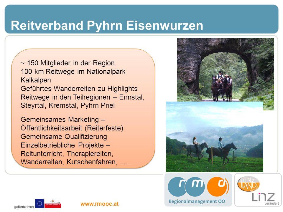Reitverband Pyhrn Eisenwurzen ~ 150 Mitglieder in der Region 100 km Reitwege im Nationalpark Kalkalpen Geführtes Wanderreiten zu Highlights Reitwege i