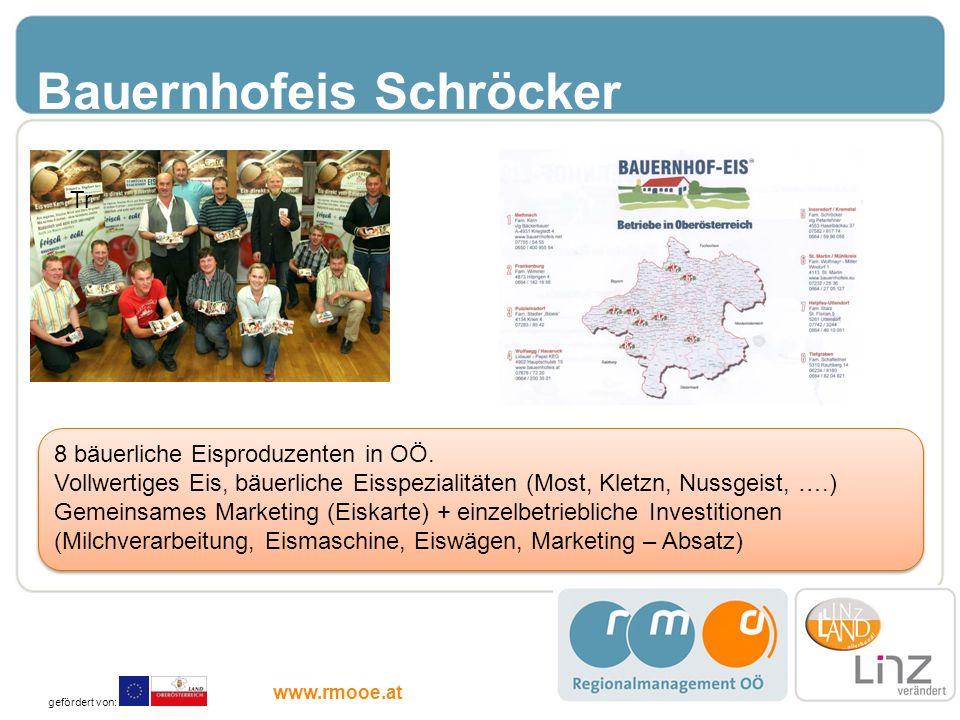 Bauernhofeis Schröcker 8 bäuerliche Eisproduzenten in OÖ. Vollwertiges Eis, bäuerliche Eisspezialitäten (Most, Kletzn, Nussgeist, ….) Gemeinsames Mark