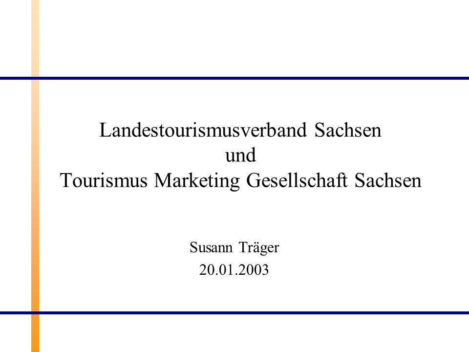 Landestourismusverband Sachsen und Tourismus Marketing Gesellschaft Sachsen Susann Träger 20.01.2003