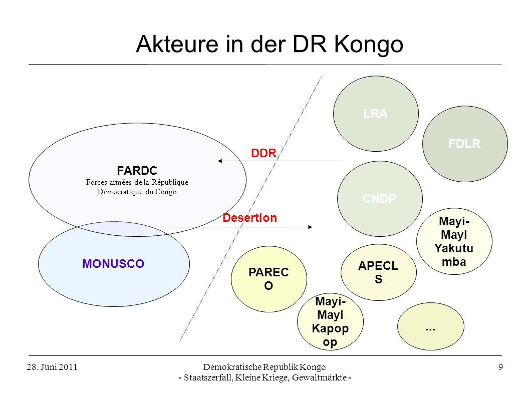 28. Juni 2011Demokratische Republik Kongo - Staatszerfall, Kleine Kriege, Gewaltmärkte - 9 MONUSCO FARDC Forces armées de la République Démocratique d