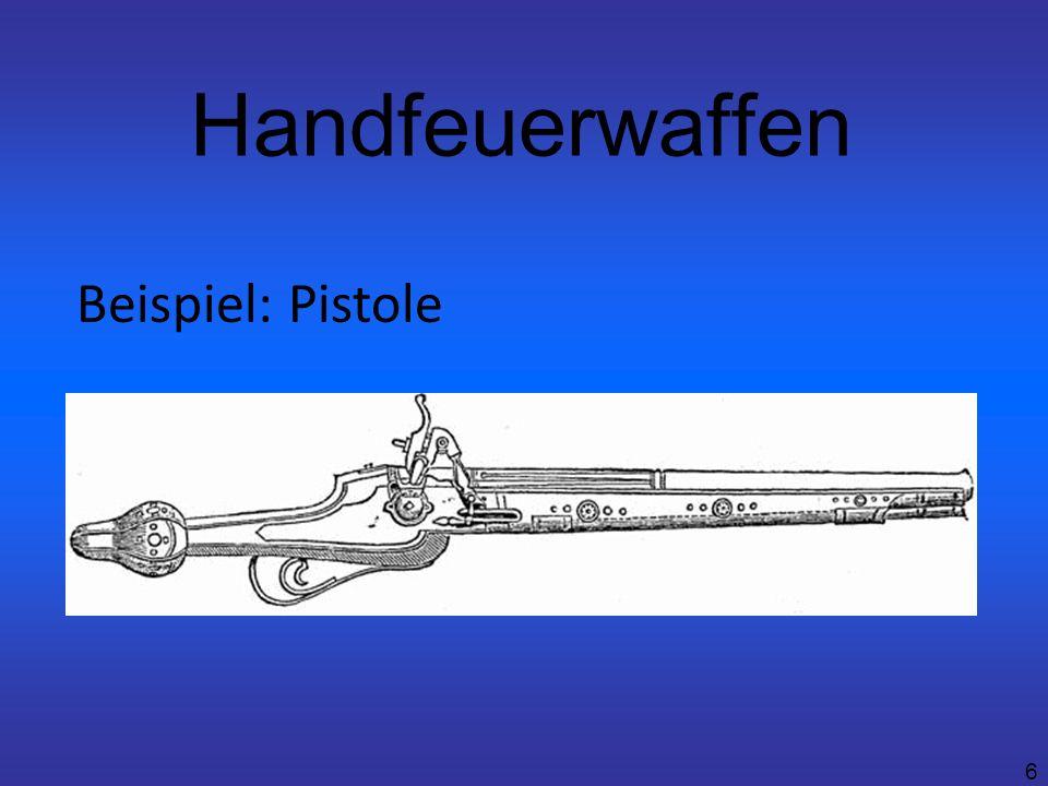 6 Handfeuerwaffen Beispiel: Pistole