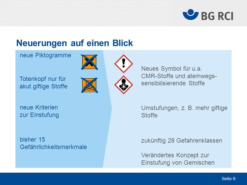 Seite 17 Sektion Plakate geben Hilfestellung Sektion Chemie der IVSS, Arbeitskreis Gefährliche Stoffe in Zusammenarbeit mit der BG RCI Bezug über www.bgrci.de > Presse & Medien > Medienshopwww.bgrci.de > Presse & Medien > Medienshop