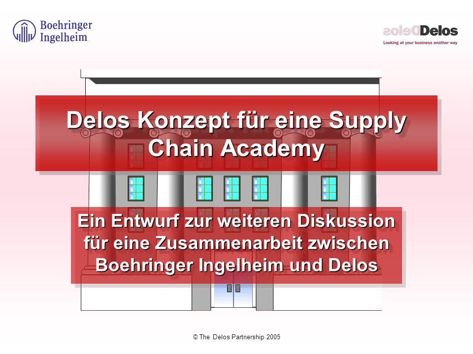 © The Delos Partnership 2005 Delos Konzept für eine Supply Chain Academy Ein Entwurf zur weiteren Diskussion für eine Zusammenarbeit zwischen Boehring