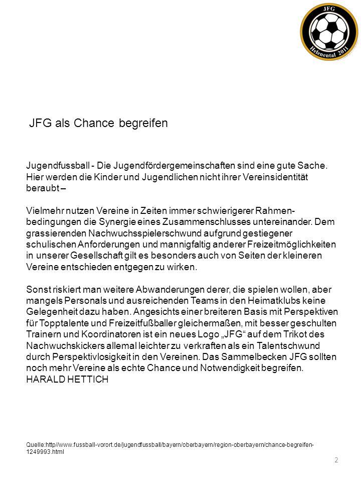 Sehr geehrte Eltern, Spieler und Spielerinnen, auf den nächsten Seiten haben die Verantwortlichen der Fußballabteilungen vom FC Aschheim, TSV Feldkirchen und SV Heimstetten zusammengefasst, warum wir am 27.04.2011 in Heimstetten die Gründung einer Jugendförder- gemeinschaft vollzogen haben.