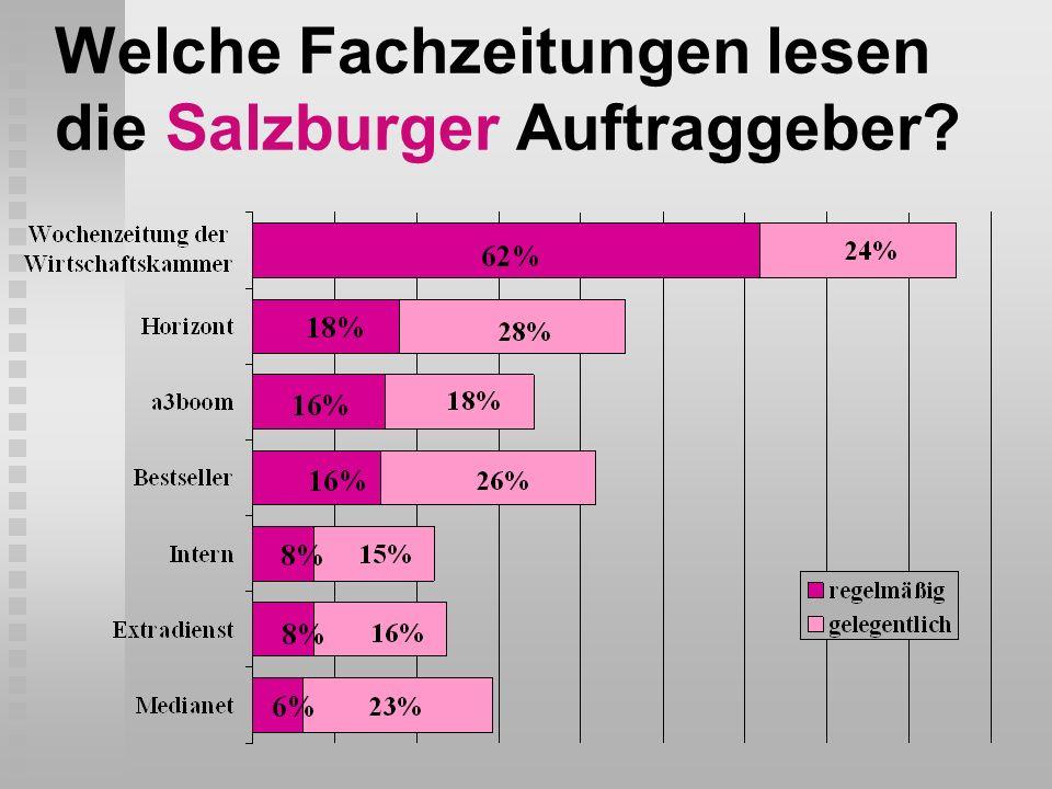 Welche Fachzeitungen lesen die Salzburger Auftraggeber?